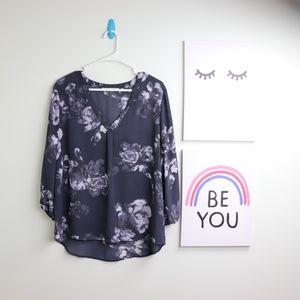 violet & Claire Size XL 3/4 Sleeve Blouse